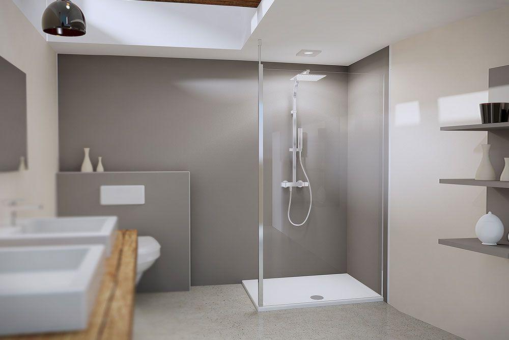 Flexible WalkinLösung von Duschwelten Dusche