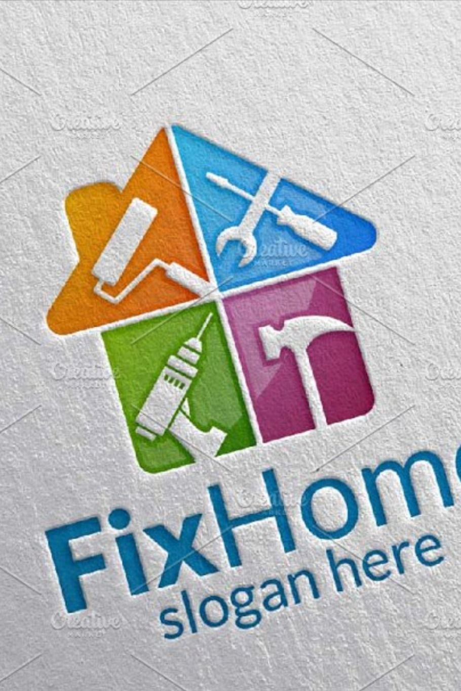 Real estate Logo, Fix Home Logo in 2020 Home logo, Real