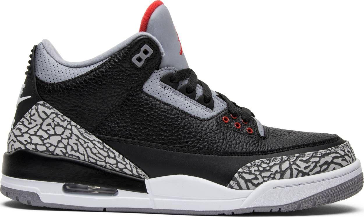 Air Jordan 3 Retro Og Black Cement 2018 Air Jordan 854262 001 Goat Air Jordans Retro Air Jordans Sneakers