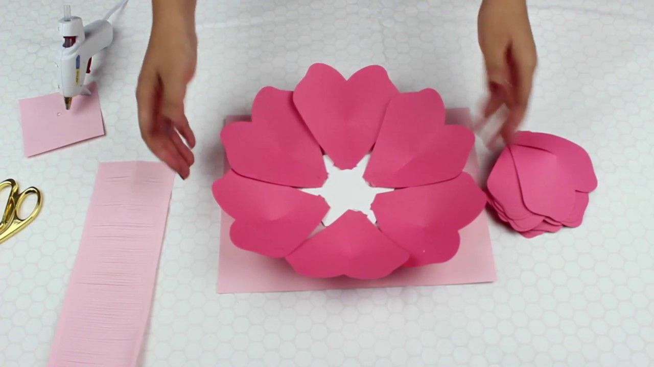 Paper Flower Tutorial Using Template 19 Youtube Flowers