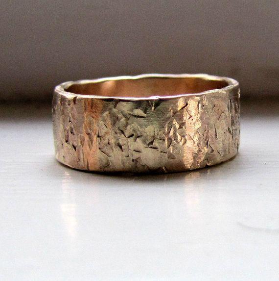 Mens wedding band 14k gold unique rustic distressed ring mens wedding band 14k gold unique rustic distressed ring junglespirit Images