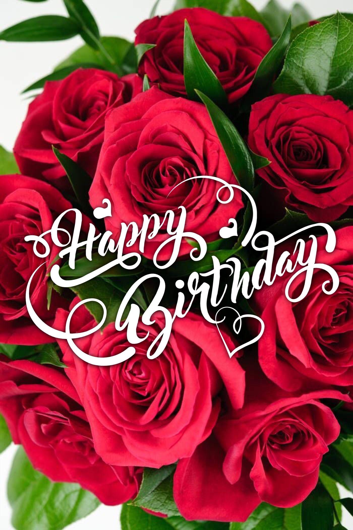 Happy Birthday Birthday wishes flowers, Happy birthday