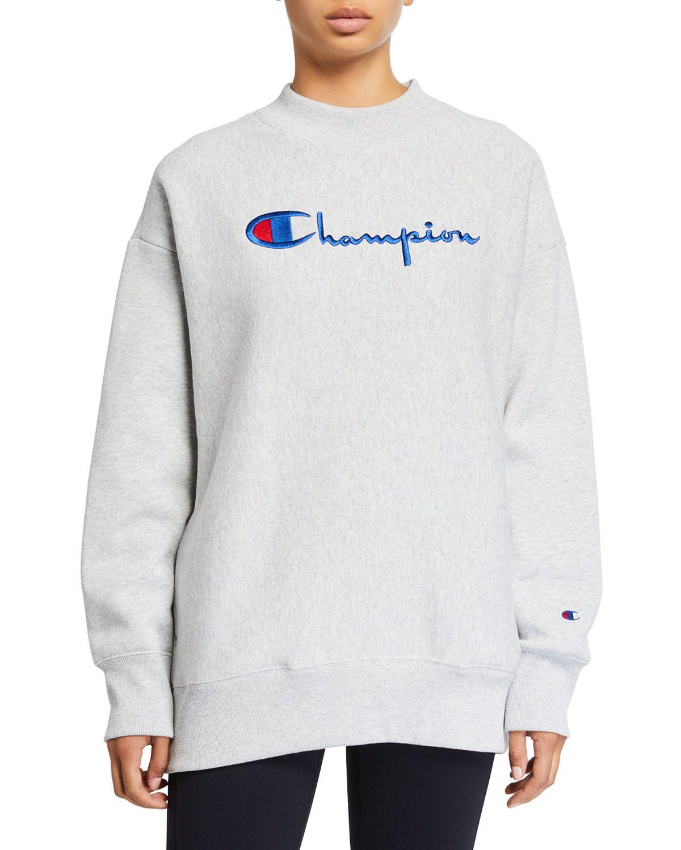 Champion Europe Reverse Weave Oversized Logo Crewneck Sweatshirt Championeuropereverseweave Cloth Sweatshirts Crew Neck Sweatshirt Tops Designs [ 1500 x 1200 Pixel ]