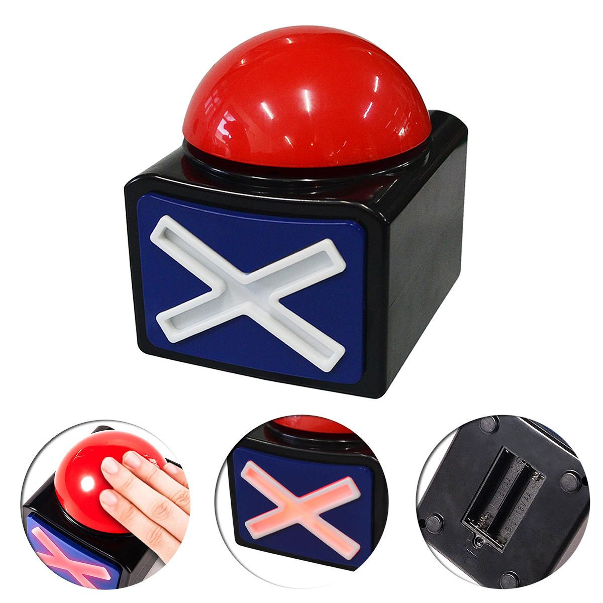 9 39] Game Answer Buzzer Alarm Push Button with Sound Light