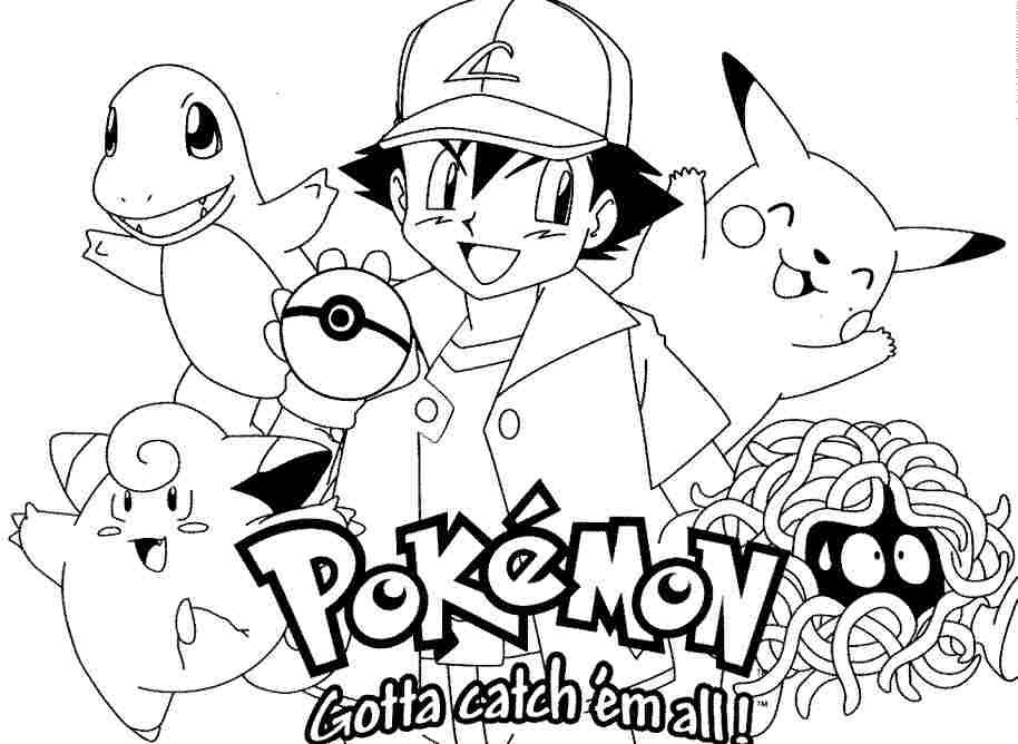 Free Pokemon Coloring Pages To Print Online Fura Lv Pinterest