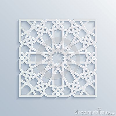 islamic geometric pattern vector muslim mosaic persian motif elegant white oriental ornament traditional arabic art