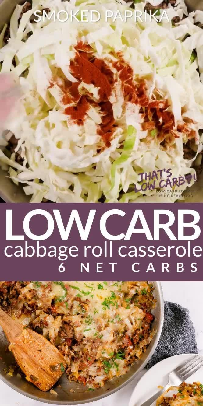 Cabbage Roll Casserole - Unstuffed Cabbage Rolls - That's Low Carb!? #ketofriendlysalads