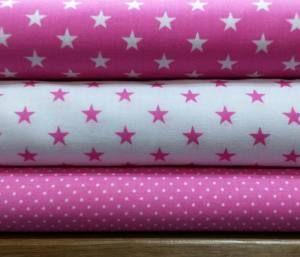Stoffpaket Baumwolle pink,