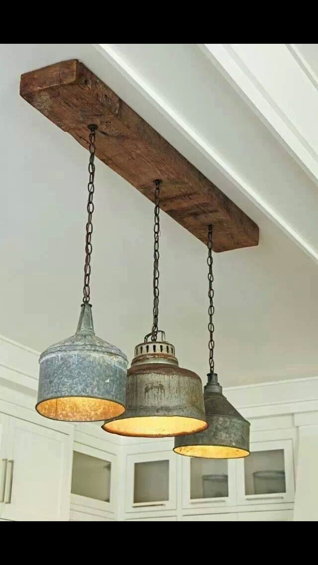 Repurpose vintage finds into gorgeous light fixtures for Diy kitchen light fixtures