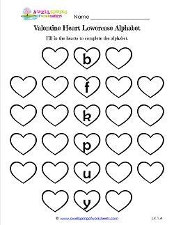holiday worksheets valentine 39 s day kindergarten language arts alphabet worksheets. Black Bedroom Furniture Sets. Home Design Ideas