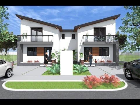 Youtube Duplex House Design Duplex House Plans Duplex Design