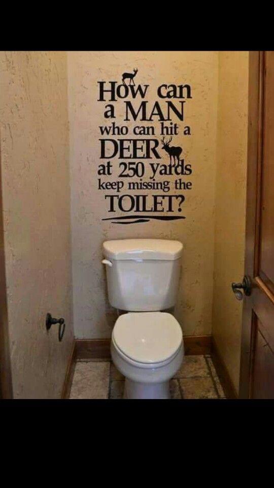 Male Urine Deer Wall Decal Bathroom Humor Hunting Decor