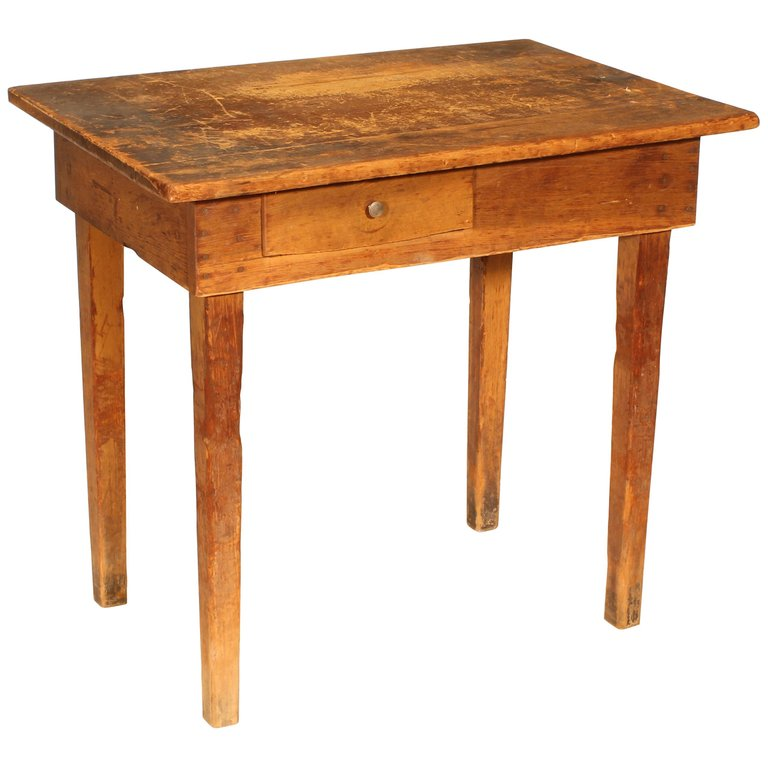 Primitive / Country Style Wooden School Desk / Table ...