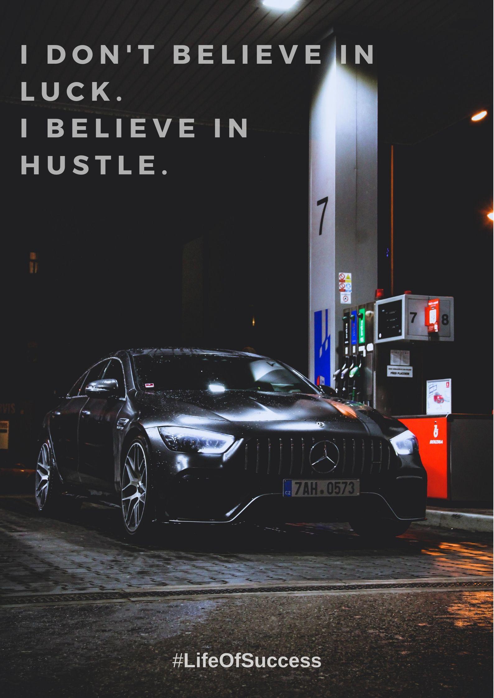 Life Quote Hustle Motivation Mercedes Benz Wallpaper Black