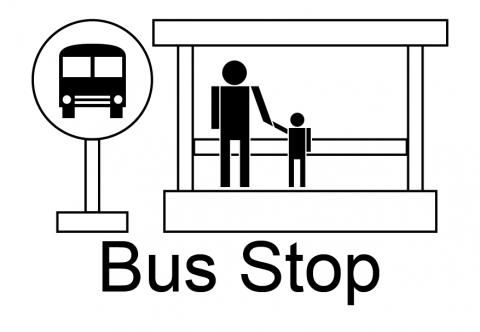 bus stop symbol clipart best mezzi di trasporto pinterest rh pinterest com images of bus stop clipart free bus stop sign clip art
