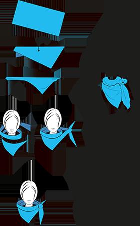 schals und t cher trendig binden die sch nsten techniken diy selbermachen pinterest schal. Black Bedroom Furniture Sets. Home Design Ideas