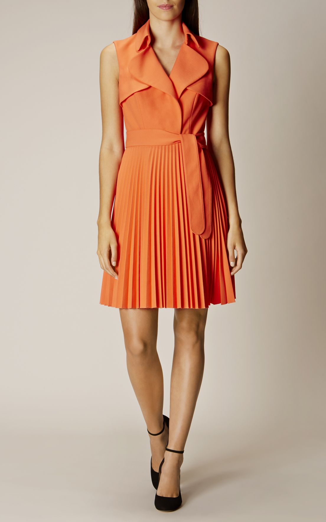 ade2d59db3 Karen Millen, PLEATED TRENCH DRESS Orange | Love. Want. Need ...