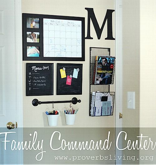 Kitchen Command Center: Awesome Ideas For DIY Family Command Centers