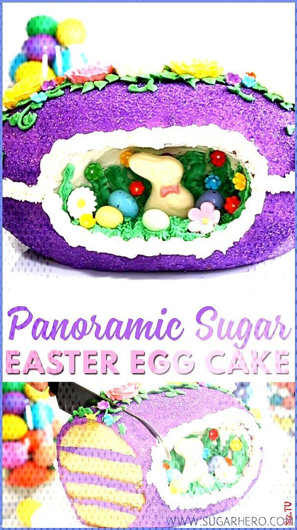 Sugar Easter Egg Cake Video Sugar Easter Egg Cake Video SugarHero  Elizabeth LaBau sugarhero SugarH
