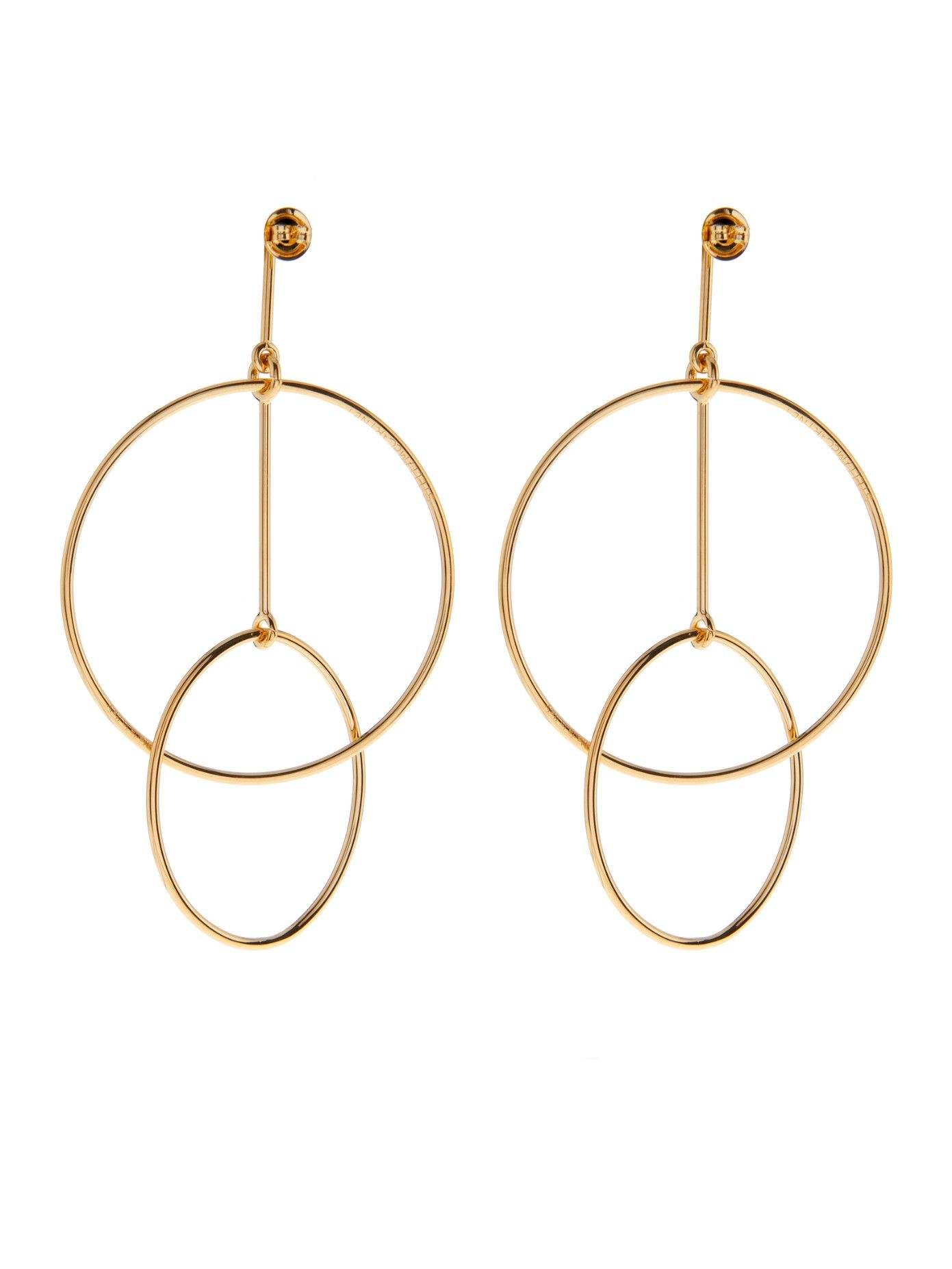 Double Circles Drop Earrings Stella Mccartney More