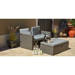 Buy Rattan Effect Recliner Sofa At Argos Co Uk Your Online Shop For Garden Chairs And Sun Loungers Limited Stock Ho Reclining Sofa Patio Furniture Sets Home