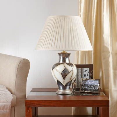 Lincoln Table Lamp In Silver . £67.99 each.