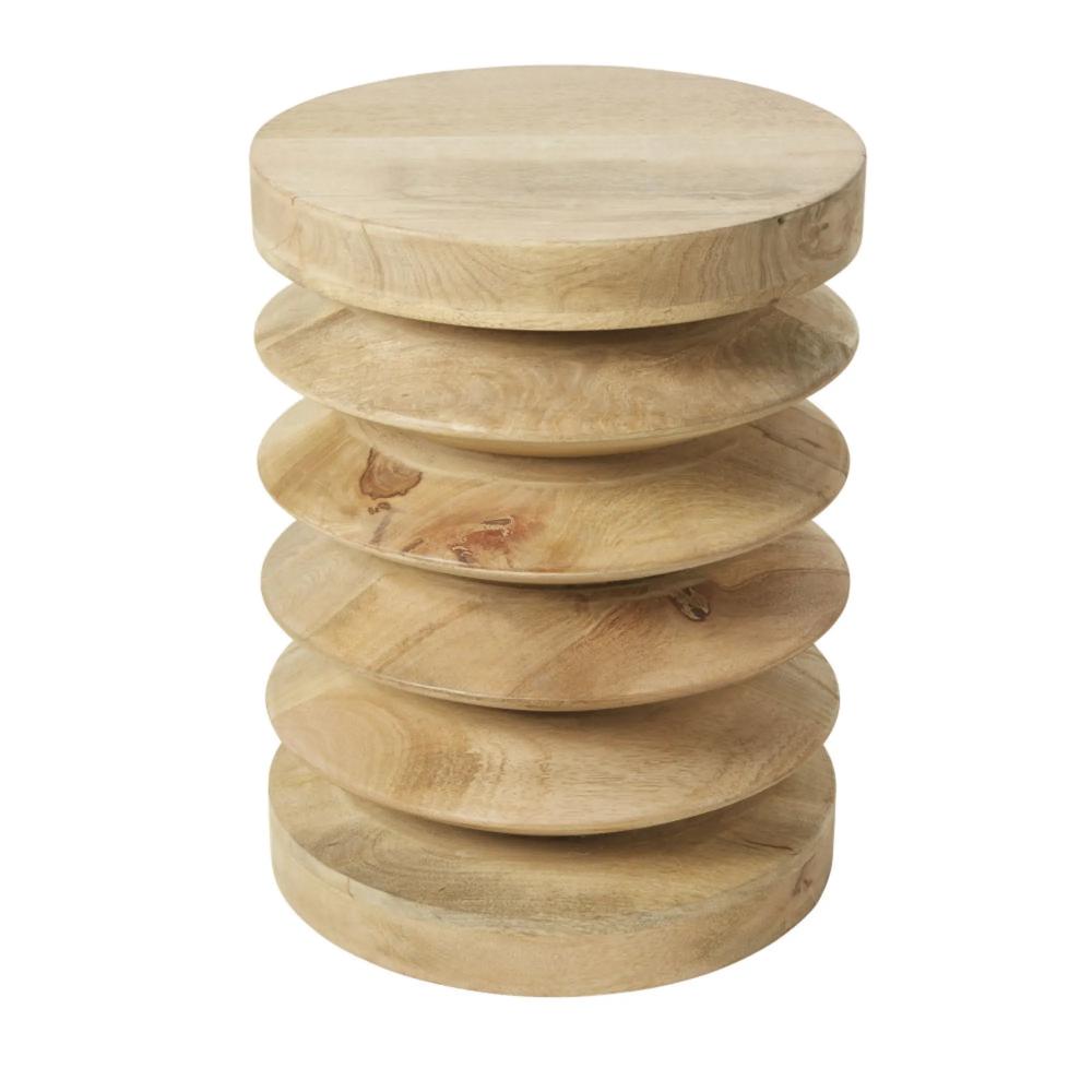 Mesa auxiliar de mango | Mesitas auxiliares, Mesas de madera