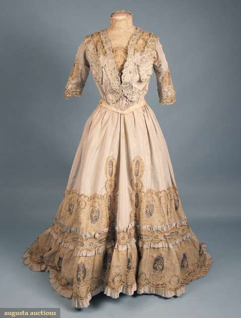 Pale Blue Belle Epoch Tea Gown, C. 1905, Augusta Auctions