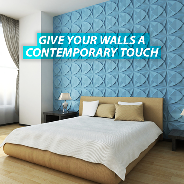 Make sure your walls have a modern feel with 3DWallPanels