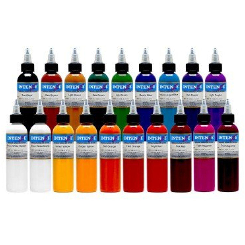 Intenze color tattoo ink sets 1 oz 19 color tattoo ink