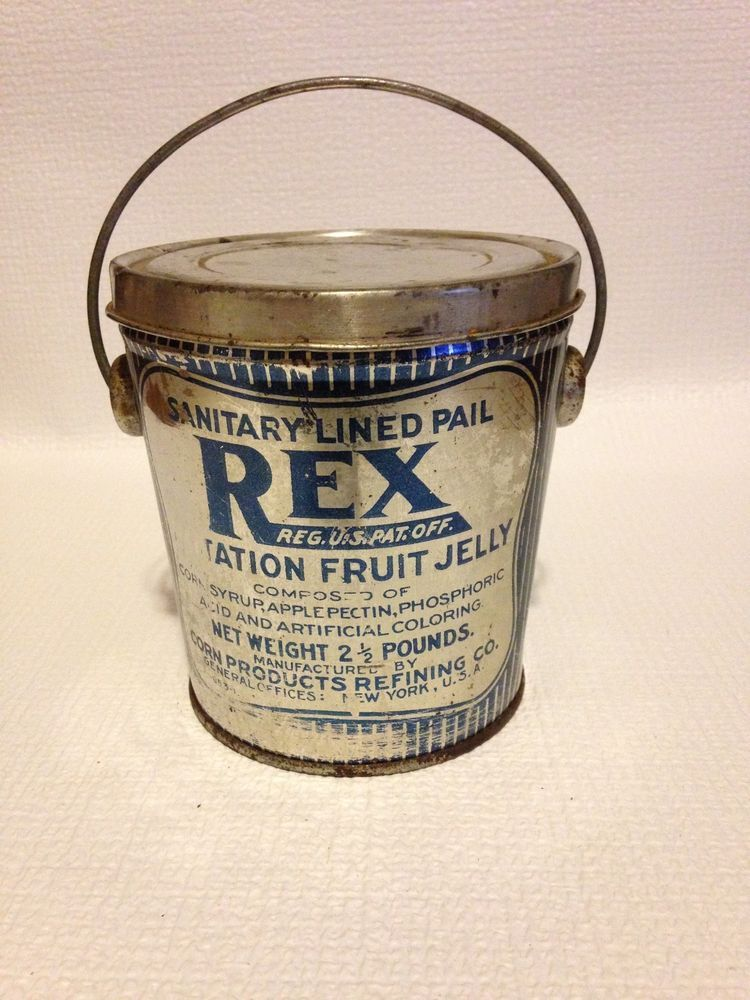 Details About Vintage Rex Jelly Tin By Corn Products