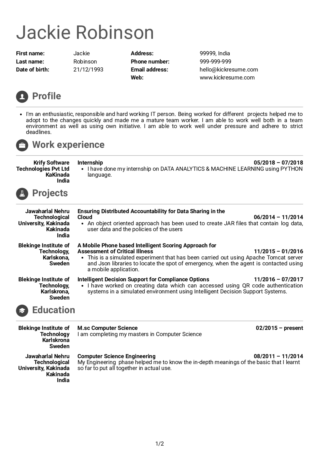 Computer Science Resume Reddit Lovely Junior software