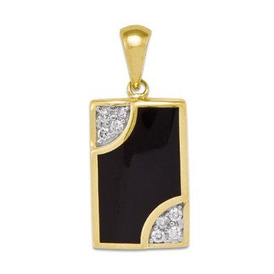 Amazon 50th anniversary black coral pendant with diamonds in amazon 50th anniversary black coral pendant with diamonds in 14k yellow gold mozeypictures Images