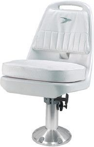 Moeller ST2080-HD White Boat Seat with Cushion Set /& Mounting Marine