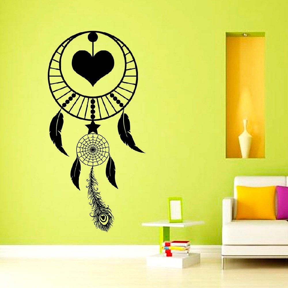 Wall Decals Dream Catcher Decal Dreamcatcher Feathers Hindu Birds ...