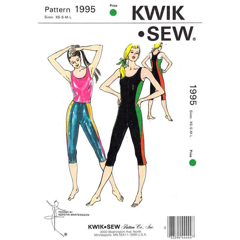 Kwik Sew Pattern 2722 Misses Exercise Wear Leotard And Unitard