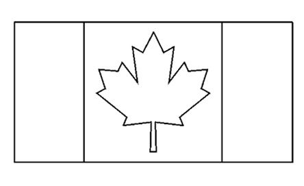 Canadian Flag Free Printable Colouring Pages Flag Coloring