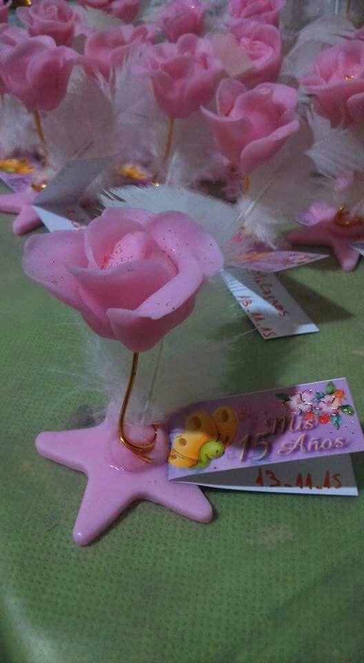 4372ebdcf Souvenir rosa 15 años | Arreglos para eventos | Souvenir porcelana ...