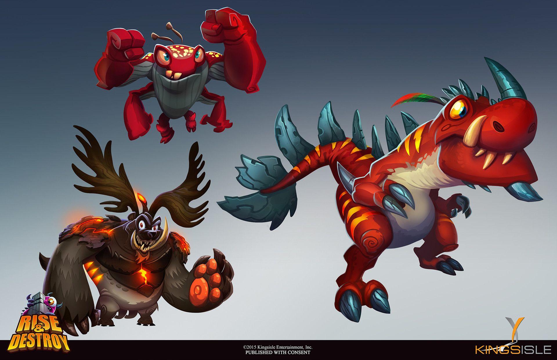 ArtStation - Rise & Destroy - Monster Designs, Kevin T. Chin