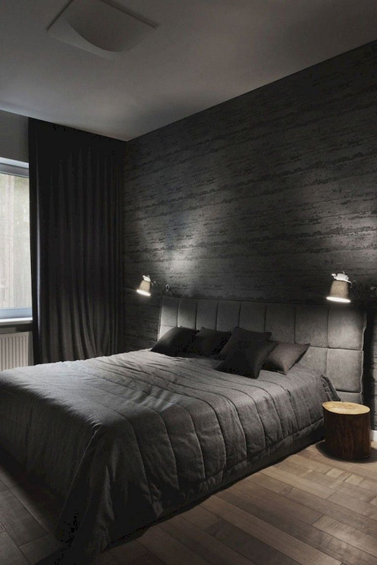 9+ Stunning Creative Bedroom Wallpaper Decor Ideas  Black