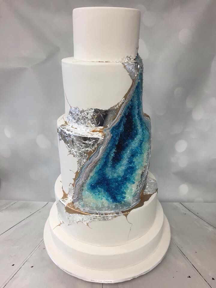 Whisk Cake Company Blue Geode Wedding Cake Our Blue Geode Cake - Geode Wedding Cake