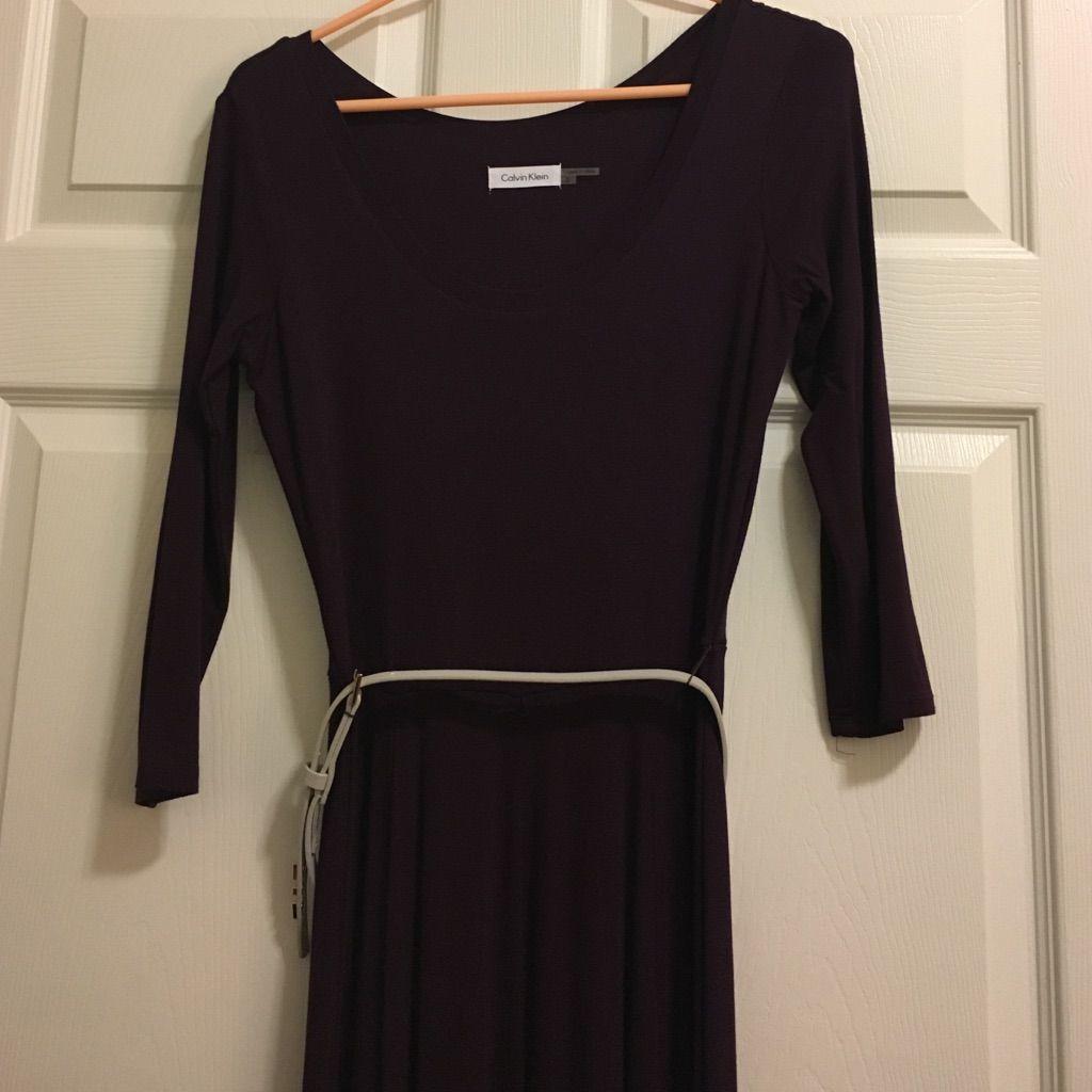 Calvin klein maxi long sleeve purple dress pinterest purple