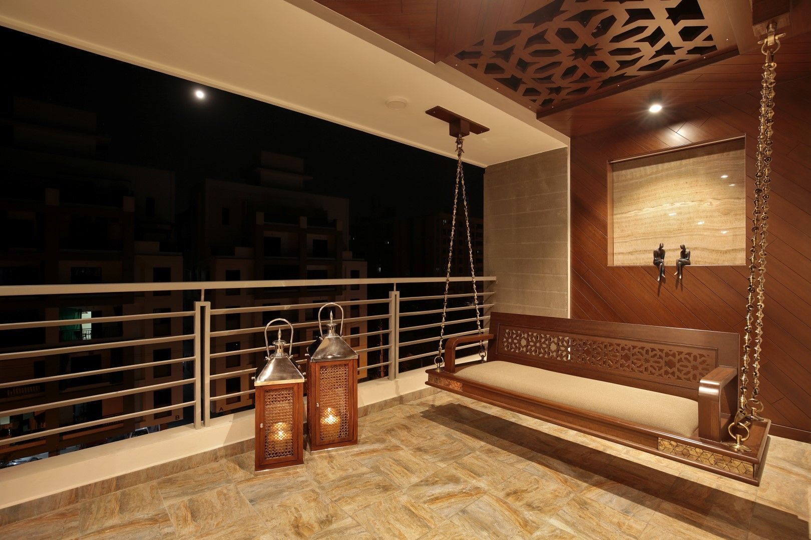 3 Bhk Flat Interiors The Oak Woods Vadodara Studio7 The