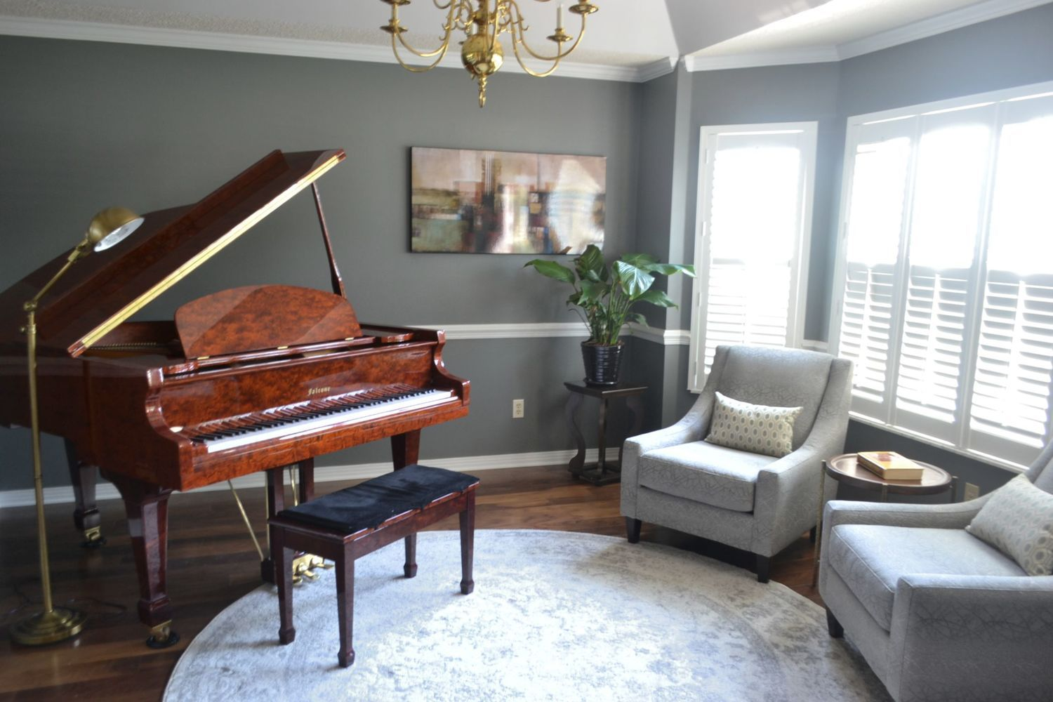 Before And After Piano Room 3a Design Studio Piano Room