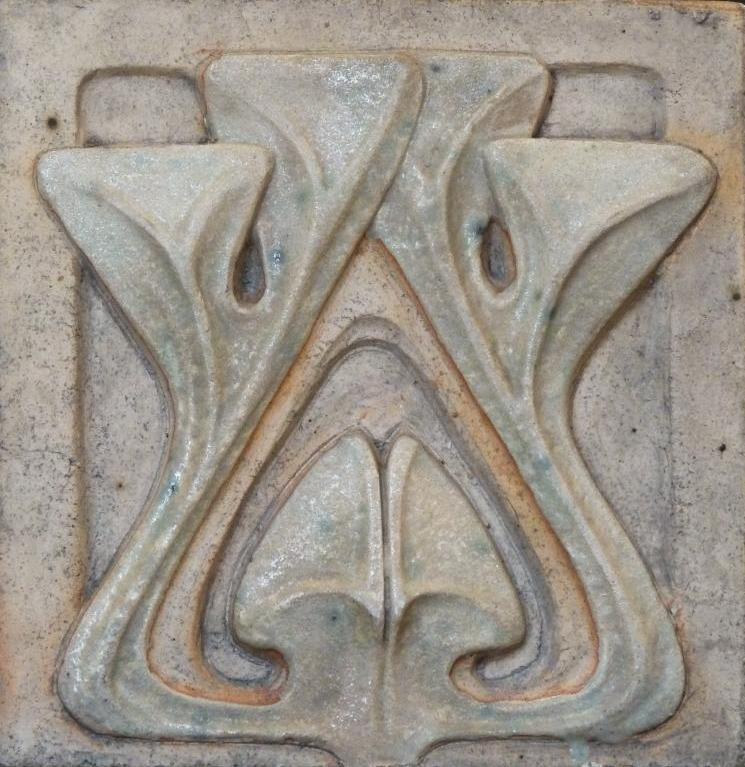 Alexander Bigot (Designed by Henri Sauvage). Art Pottery Tile. French Art…