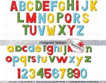 Magnet Look Alike Letters Alphabet And Number Clipart By