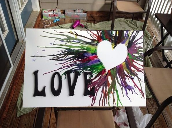 Crayon melting with quotes