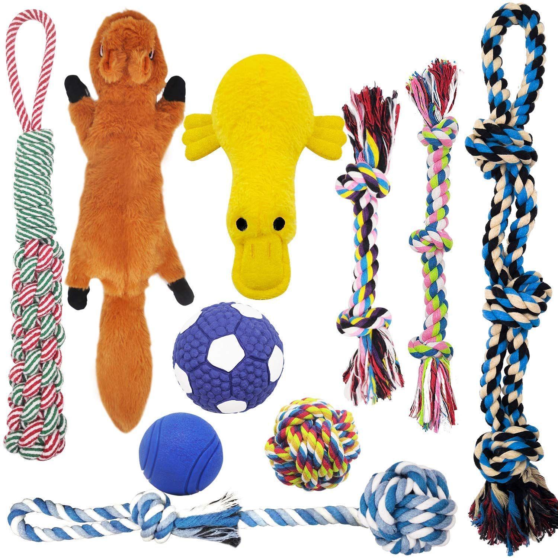 Mlcini Dog Toys Plush Dog Squeaky Toys Rope Dog Toy Dog Chew Toys