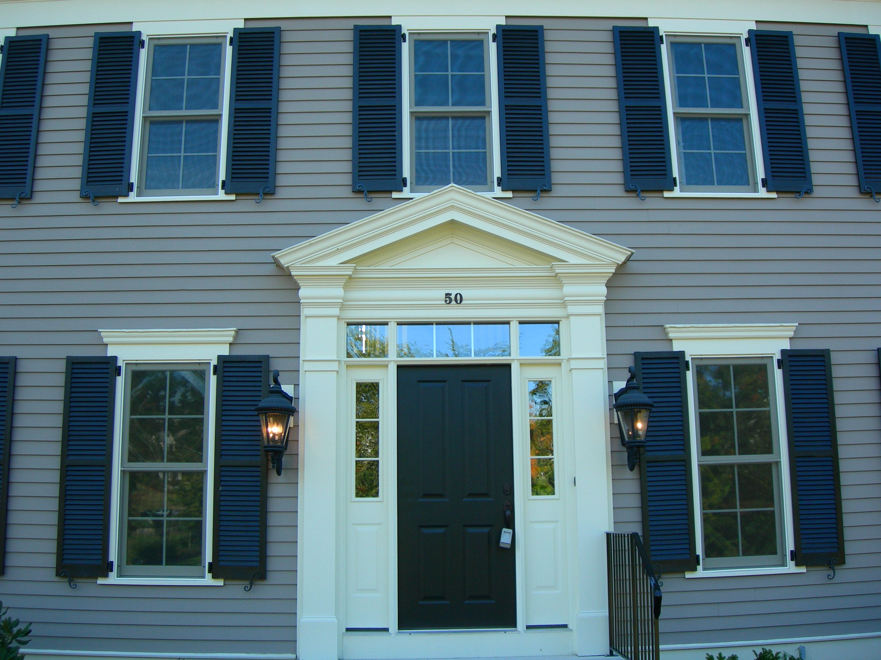 Exterior House Trim And Molding : Crown molding on top of window w shutters ideas the