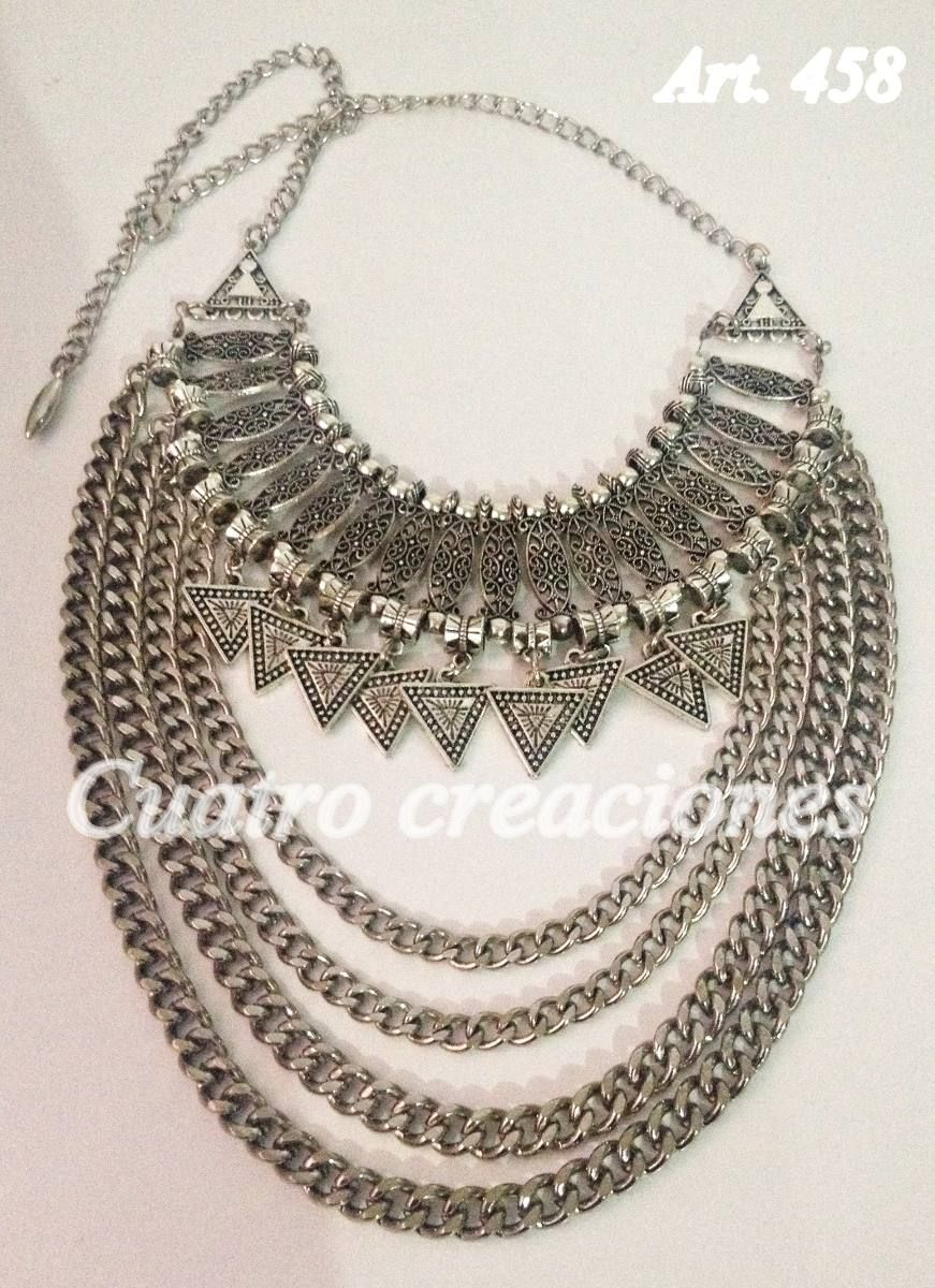 4a8d844df7ae Collar Pechera Con Triangulos -   270